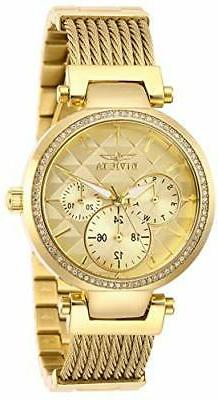 Invicta Women's Angel 28918 Quartz Gold Dial Crystal Gold Wo