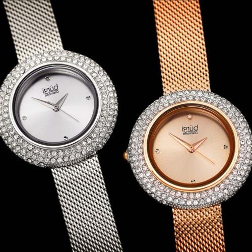 Women's BUR220 Diamond Mesh Bracelet