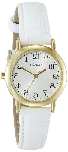 women s carriage analog quartz stainless steel