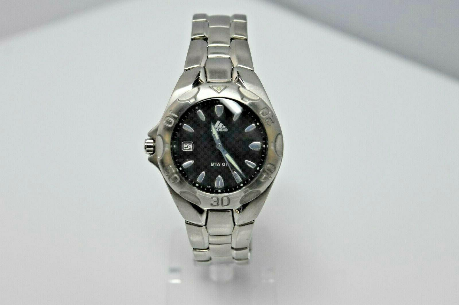 women s small stainless steel black dial