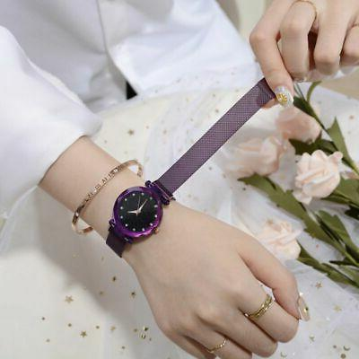 US Women Fashion Watch Starry Crystal Stainless