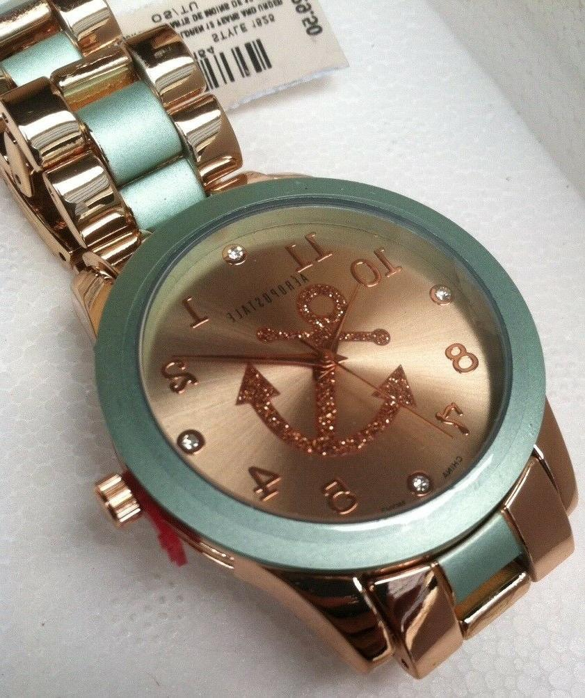 Women's Aeropostale Stylish metal Anchor wrist Watch With Se