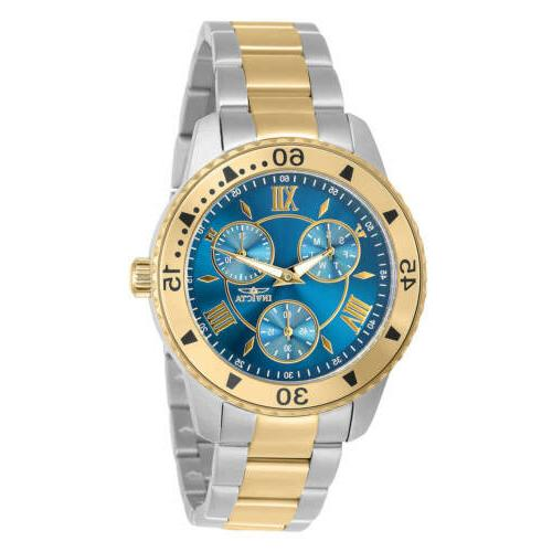 women s watch angel chronograph blue dial