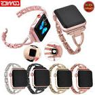 Women Stainless Steel Band with Rhinestone for Apple Watch S