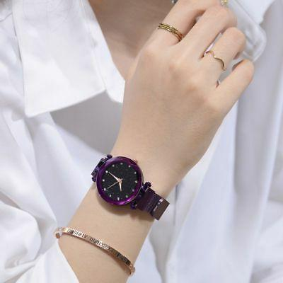 Women Starry Sky Watch Strap Buckle Stainless New