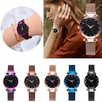 women starry sky belt watch magnet strap