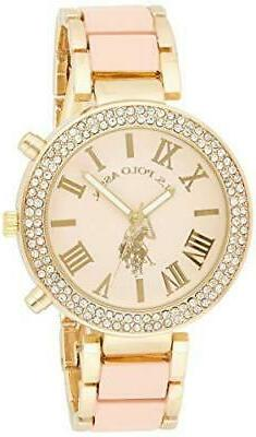 U.S. Polo Assn. Women's USC40063 Gold-Tone and Pink Bracelet