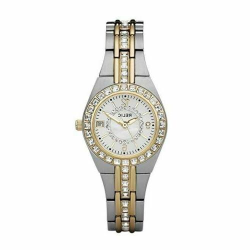 Relic Women's Quartz Stainless Steel Casual Watch, Color:Sil