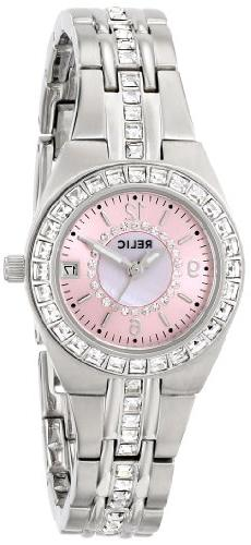 Relic Women's ZR11787 Queen's Court Silver-Tone Watch