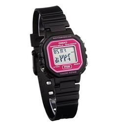 Casio Women's LA20WH-4ACF Classic Digital Black and Pink Res