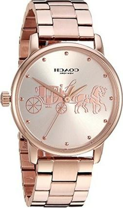 COACH - Ladies Grand Carriage Rose Gold-Tone Watch - 1450307
