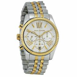 Michael Kors Lexington Chronograph Mother of Pearl Two-tone