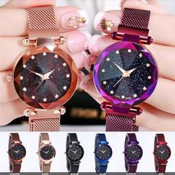 Luxury Starry Sky Masonry Watch Magnet Strap Buckle Stainles