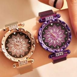 Luxury Starry Sky Watch Waterproof Magnet Strap Buckle Stain