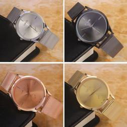 Luxury Women Stainless Steel Watch Analog Quartz Bracelet Wr
