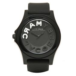 MARC BY MARC JACOBSMBM4025 Sloane Black Dial Silicone Strap