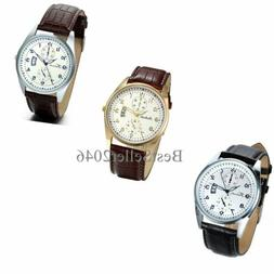 Men's Women's Quartz Analog Luxury Dial Sport Fashion Wrist
