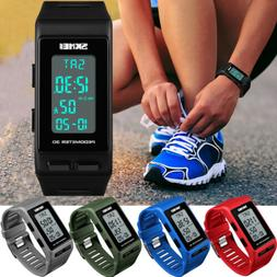 Men Women Sports Bracelet Digital Wrist Watch LED Waterproof