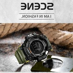 SMAEL Mens Electronic Waterproof LED Military Big Face Digit
