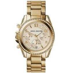 Michael Kors Midsized Chronograph Gold Tone Womens Watch MK5
