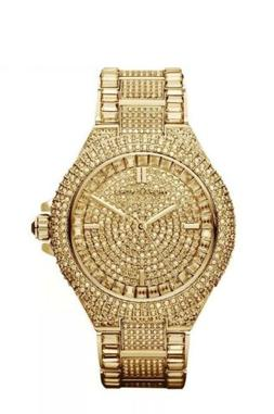 Michael Kors MK5720 Women's Camille Gold Tone Pave Crystal G