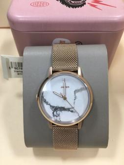 Fossil Neely Gold Tone White Marble Dial Ladies Watch Women'