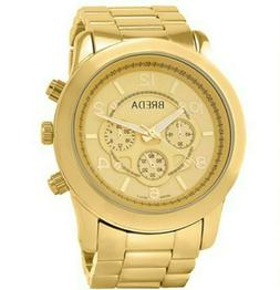 NEW Breda 2308-Gold Womens Jordan Oversized Boyfriend Watch