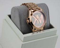 NEW AUTHENTIC MICHAEL KORS BRADSHAW CRYSTALS ROSE GOLD WOMEN