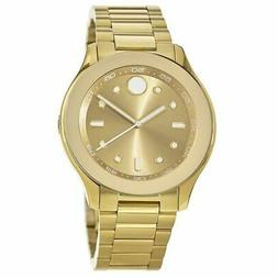 New Movado Bold 38mm Gold Tone Steel Women's Watch 3600416