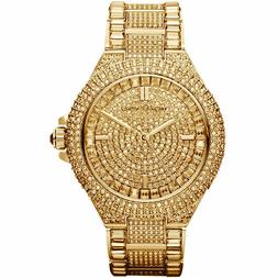 Michael Kors Camille Gold Pave Dial Crystal Encrusted MK5720