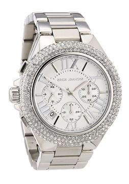 New Michael Kors Camille Silver Chronograph Crystal MK5634 W
