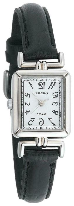 NEW CARRIAGE TIMEX WATCH C2A901 WOMANS STAINLESS STEEL CASE