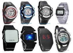 New Digital LED Fashion Sports Wrist Watch Men Women Kids Bo