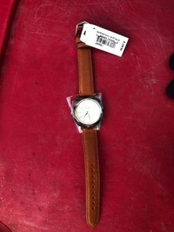 New Fossil ES4281 Idealist Square Dial Brown Leather Strap W