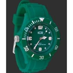 New Green Teal Unisex Mens Womens Silicone Rubber Sports Wat