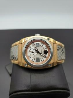 NEW SAVOY ICON  STAINLESS ROSE GOLD 35MM LADIES WATCH SNAKE