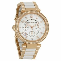 New in Box Michael Kors Women's MK5774 Parker Rose Tone and