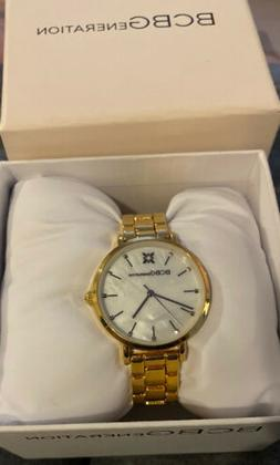 NEW IN BOX BCBGeneration Women's Gold Stainless Steel Wris