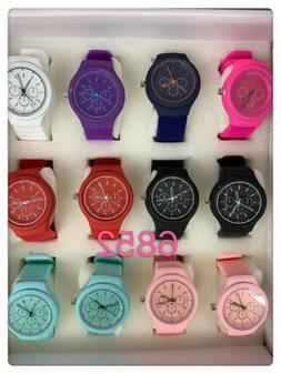 NEW Lot of 12 pc Women's &  Girls Mix Color Watch Wholesale