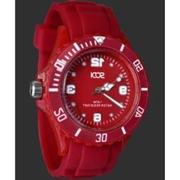 New Red Unisex Mens Womens Silicon Rubber Sports Watches Ath
