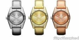 NEW-ADIDAS ROSE,GOLD,SILVER PATENT LEATHER BAND+STEEL DIAL W