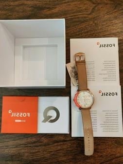 NEW w/ TAGS - Fossil Women's Q Tailor Light Brown 40MM Hybri
