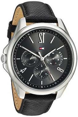 NEW Tommy Hilfiger Women's Sport Stainless Steel-Leather Cas