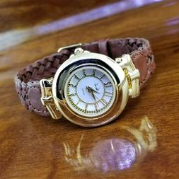 New Womens Gold & Silver Kathy Lee Embossed Reticulated Dial