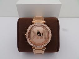 NWT AUTHENTIC MICHAEL KORS MK5865 PARKER ROSE GOLD TONE S/S