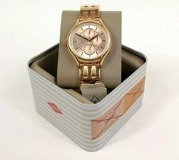 NWT Fossil  Daydreamer Rose Gold Watch Paved Crystals Chrono