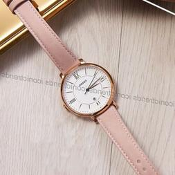 NWT 🍭 Fossil ES3988 Jacqueline White Dial Date Pink Blush