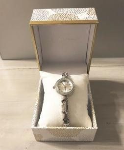 NWT Macy's Silver-tone Charter Club Ladies Quartz Watch