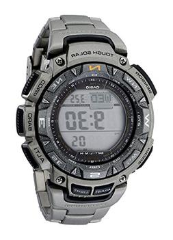 Casio Men's PAG240T-7CR Pathfinder Triple-Sensor Stainless S