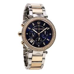 Michael Kors Parker Mini Chronograph Blue Dial Two-tone Ladi